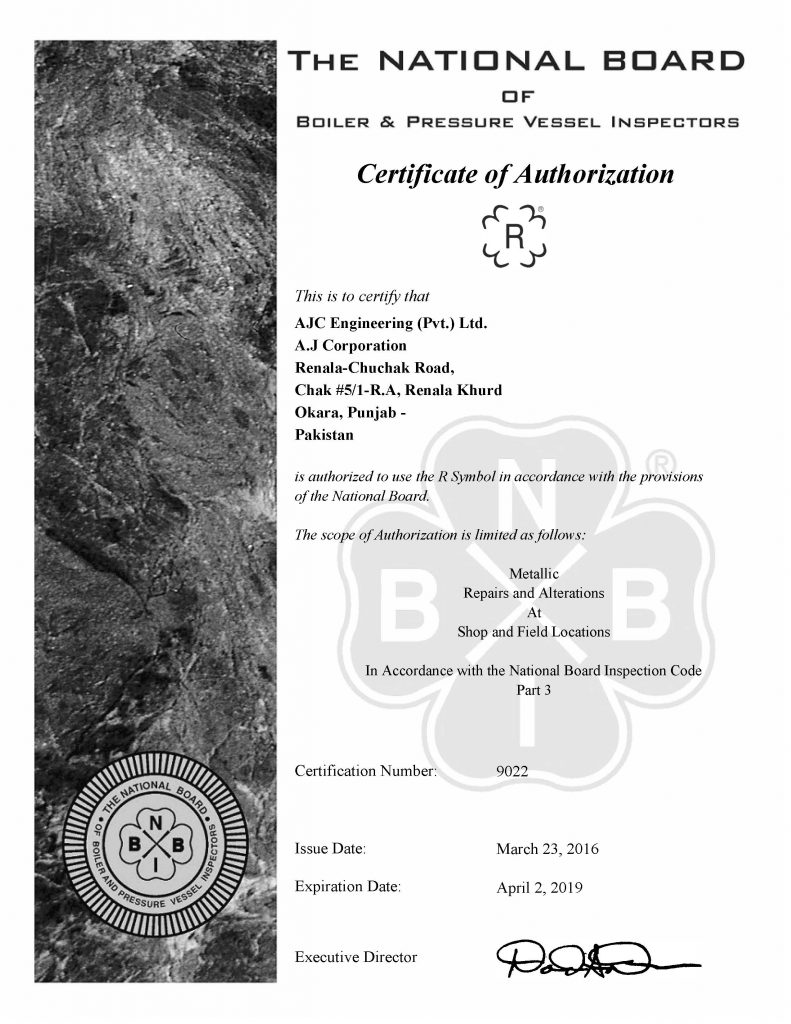 Certifications registrations ajc engineering pvt limited national board 1betcityfo Image collections