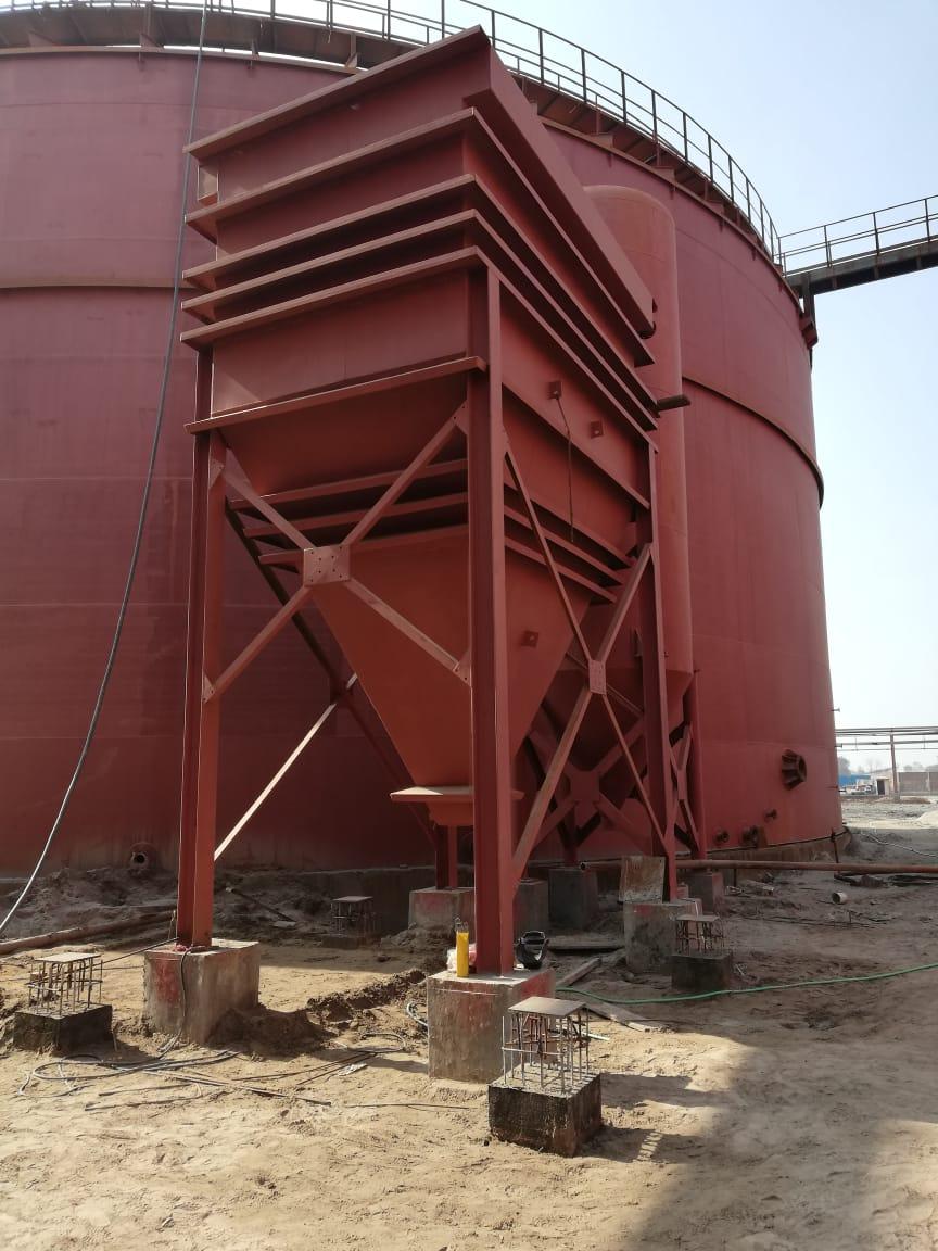 Design, Supply and Fabrication of Condenser, Separator Tank, Lammaller Separator, Degassing Vessel & Bio Gas Digester Storage Tank For Noon Sugar Mills Limited.