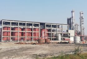 Fabrication, Erection/Installation of Equipment, Tanks, Structure, Piping and allied mechanical works for Distillery Plant of capacity 125,000 Liters/day. For Ramzan Sugar Mills. Limited.