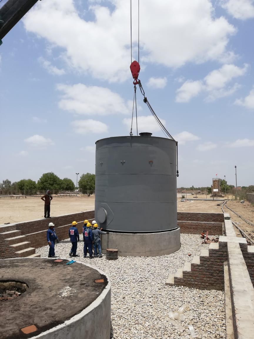 Construction of Storage Tanks at CMF-II Daharki For Mari Petroleum Company Limited
