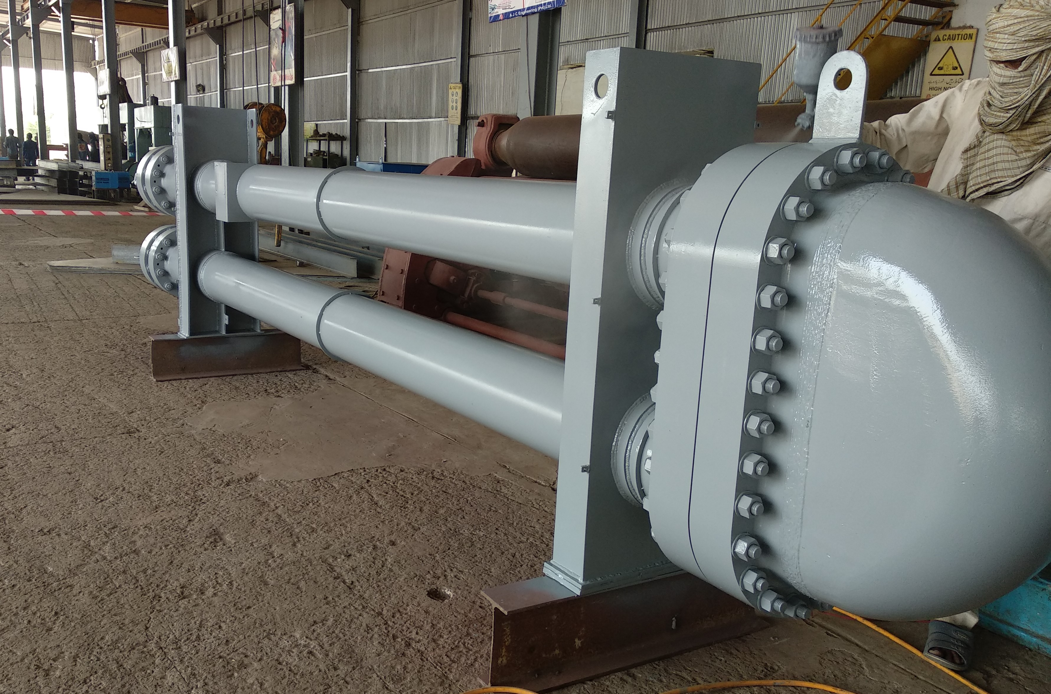 Supply, Fabrication, Installation and Commissioning Pre-Chiller Shell & Tube Heat Exchanger.  For National Refinery Limited.